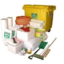 Spill Kit - Oil and Fuel Large Mobile Bin 1270L (SKH1100)