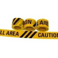 Caution Spill Area Barrier Tape 50m x 75mm (TAPEC50X75)