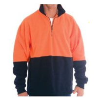 High Visibility Two Tone 1/2 Zip Polar Fleece