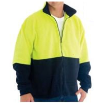 High Visibility Two Tone Full Zip Polar Fleece