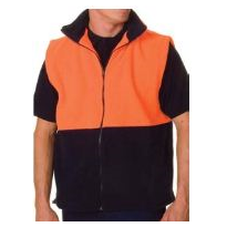 High Visibility Two Tone Full Zip Polar Fleece Vest