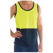 High Visibility Cotton Back Two Tone Singlet