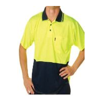 Two Tone Fluorescent S/S Polo Shirt Micromesh