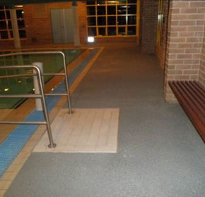 Retirement village hydrotherapy pool gets floor safety overhaul