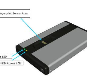 Fingerprint Access | USB Hard Drive Enclosure | 2.5""