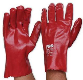 PVC Gloves | Red | 27cm