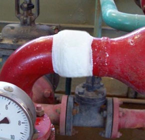 Sealtek pipe repair fixes leaking pipe problems