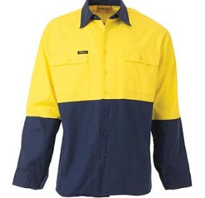 Hi Vis | Drill Shirt | Mesh Ventilated