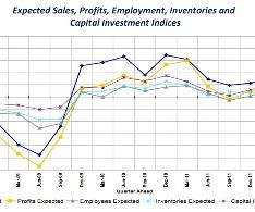 Rising sales and profit expectations, but bad figures for employment and capital investment.