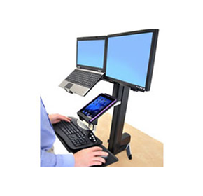 Healthcare Computer Workstation | Ergotron WorkFit-S - Sit-Standing