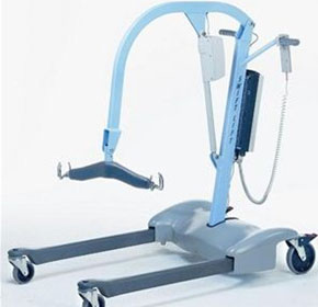 how to use standing up lifter in aged care