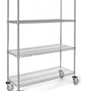 Hospital Trolleys - Mobile 4 Shelf Unit | Rapini - R1301