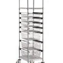 Single Bay Sliding Basket Trolley | Rapini R2760