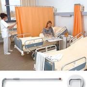 Hospital Screen with Folding Down & Swivelling Telescopic Arms