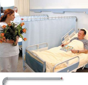 Hospital Screen with Swivelling Telescopic Arms