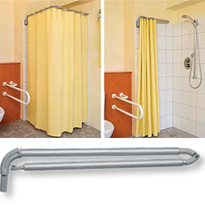 Telescopic Cubical System & Wall Attachment