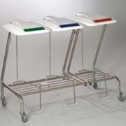 Triple Linen Skip with Foot Operated Lid | SLIM-0307-1