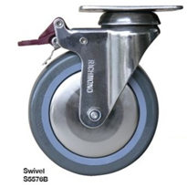 Medical Elite Plate Series Stainless Steel Castors