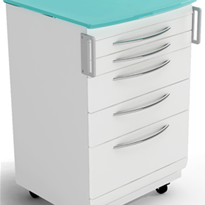Mobile Dental Cabinet - Deluxe 5 Drawers | Fusion Series | BGM3