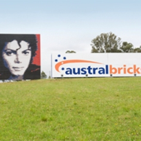 Austral Bricks Brick Wall Tribute to Michael Jackson