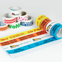 Custom printed tape and labels direct from manufacturer