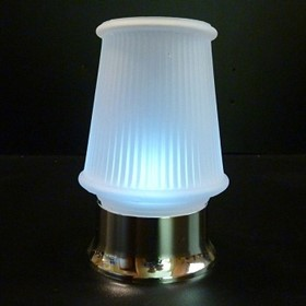 Danbury Candle Lamp | Satin-frosted Glass Metalised Silver Base