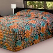 "Bedspread | 235 Contempo Oasis ""Copper Teal"""