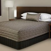 "Bedspread | 237 Contempo ""Flat Top"" Cap Top Checkmate ""Pepper"""