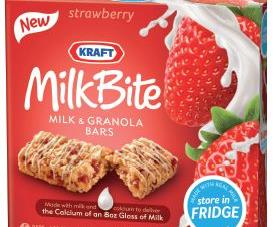 Kraft Foods claims to be raising the bar in snacking with its new Kraft Milkbite Milk & Granola Bars.