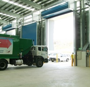 High speed doors for the recycling industry