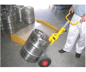 Taking the man out of manual handling: 67kg kegs can be moved with ease.
