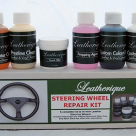 Leather Steering Wheel Rejuvenator and Restoration Kit