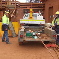Powerful pull at bauxite mine