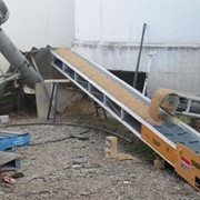 Hired conveyors remove flood damaged grain