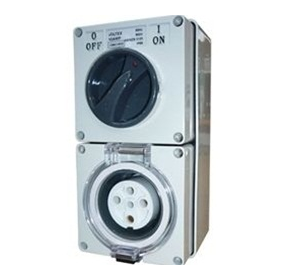 Switched Socket Outlet | IP56 500V 32A - 5 Round pins
