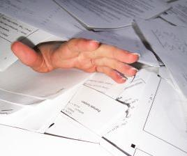 Buried under paperwork? It could be affecting your health.