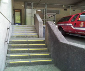 Vancouver Fire Hall No 1 external stairs