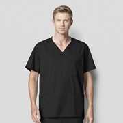 103 WonderWORK Men's Multi-Pocket Medical Scrub Top