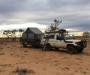 Craig and Lesley Short's airbag-equipped veteran Toyota Troop Carrier with 500,000km on the clock