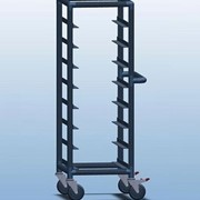 Single Bay 8 Tray Service Trolley