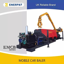 Diesel Powered Scrap Car Balers | Enerpat Group Model 5300