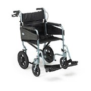 Wheelchair, Escape Lite Transit Attendant Propelled, Standard, Silver