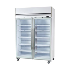 2 Glass Door Upright Freezer 1310Ltr