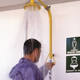 Stainless Steel Combination Emergency Safety Shower