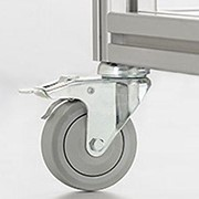 Swivel Castors with Double Brake - D75