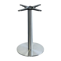 Alexi Stainless Steel Disk Table Base