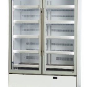 Two Door Glass Door Fridge Chiller | SKOPE BME1200-A