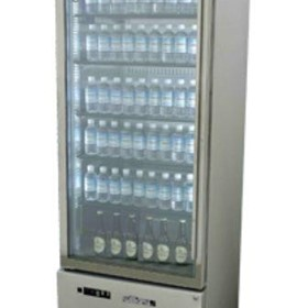 Single Glass Door Upright Display Fridge | HQ14