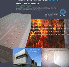 New Protective Cladding, Guarantees  No burn down in a Fire Storm