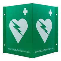 AED Wall Sign 3D